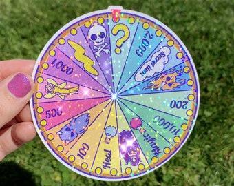 Neopets Wheel of Excitement Sticker- Neopets, Glitter Sticker, 2000s, Y2K Stickers, Neopets Sticker, 2000s Stickers, Rainbowcore, Kidcore