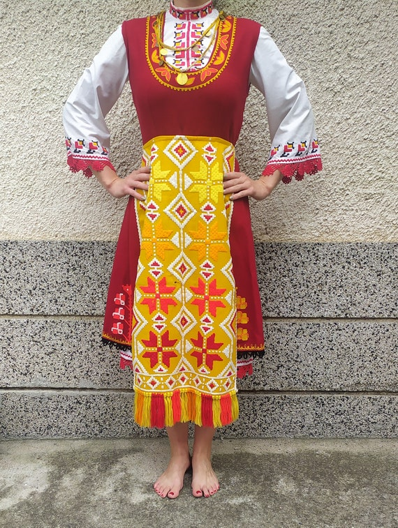 Folk Costume, Traditional Folk Clothing, Antique C