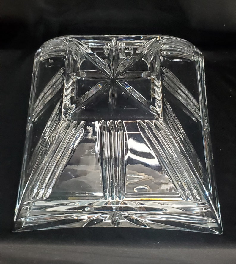 Or Fruit Bowl Signed Mikasa Square Cut Dipping Crystal 5.5 X 3.75 Candy Dip