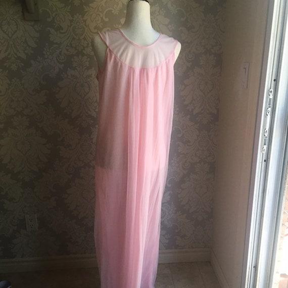 Vintage Chiffon Ankle Length Nightgown Peignoir