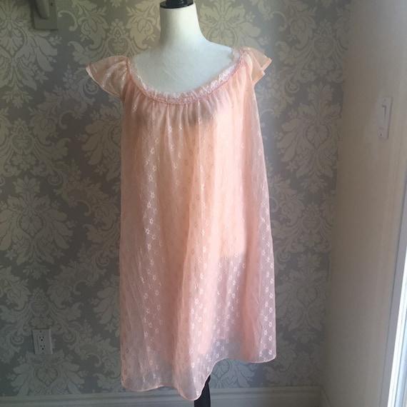 Vintage Chiffon Nightgown 1970's