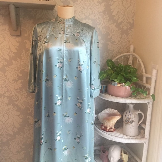 Vintage 1950's Peony Brand Chinese Robe Deadstock