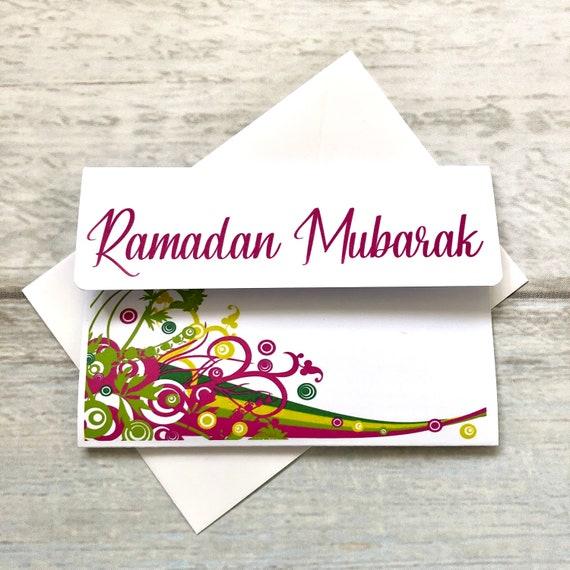 Happy Ramadan Kareem Mubarak Lockdown Greeting Cards Holiday Pack of 4 blank Inside Social Distance Eid
