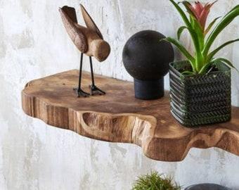 Live Edge Floating Shelf Walnut Custom Floating ShelvesHandmade,Wooden Wall Shelf,Floating Shelves,Wall Decor,Home Living,Furniture,Wall Ar