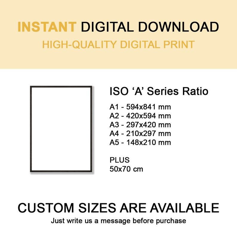 Abstract Mid Century Modern Lineart Wall Art Print Instant Download Minimalism Poster