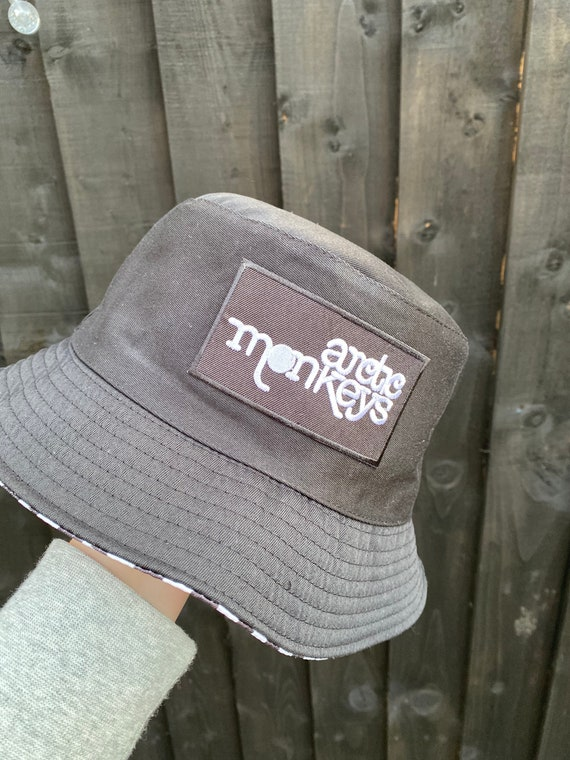 Festival outfit. Arctic Monkeys bucket hat Arctic Monkeys themed nova check reversible bucket hat