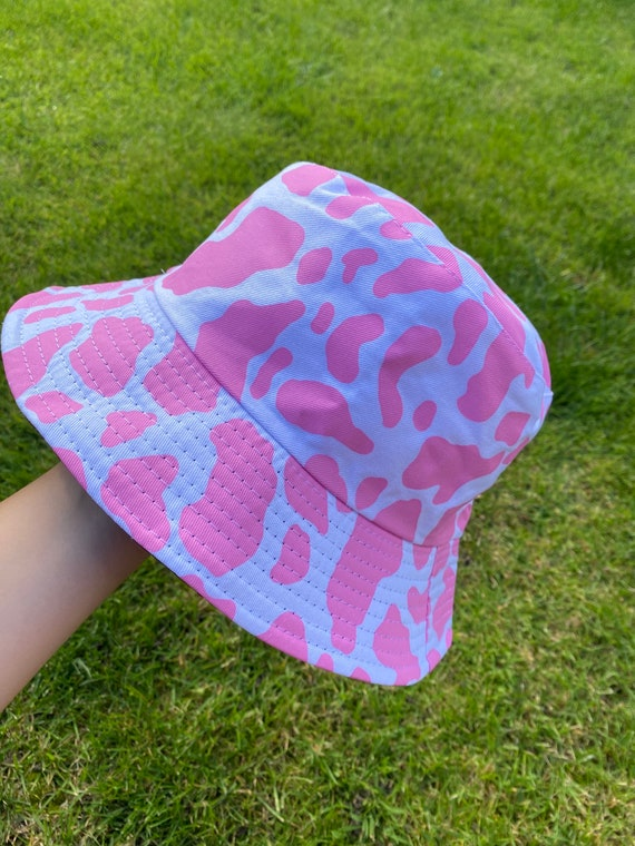Cow Print Hat Festival Summer 2020 Lots of Patterns Handmade in Australia Reversible Custom Unisex Bucket Hat Gift for him her