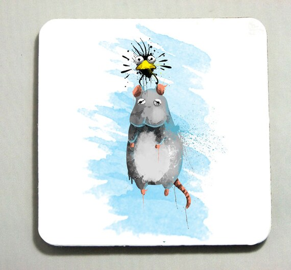 Bird Mouse Spirited Away Studio Ghibli Drink Mat Etsy