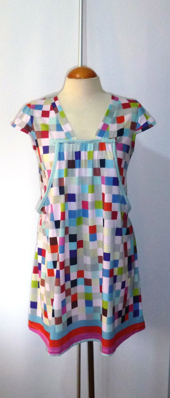 Original print short dress