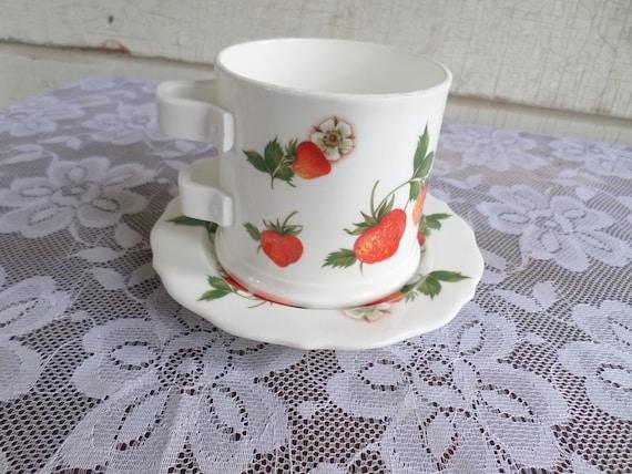Vintage Strawberry Lane Tea/Mug & Saucer Set