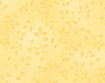 Henry Glass Co - Butter Vines Yellow - Fabric By The Yard or Selected Length