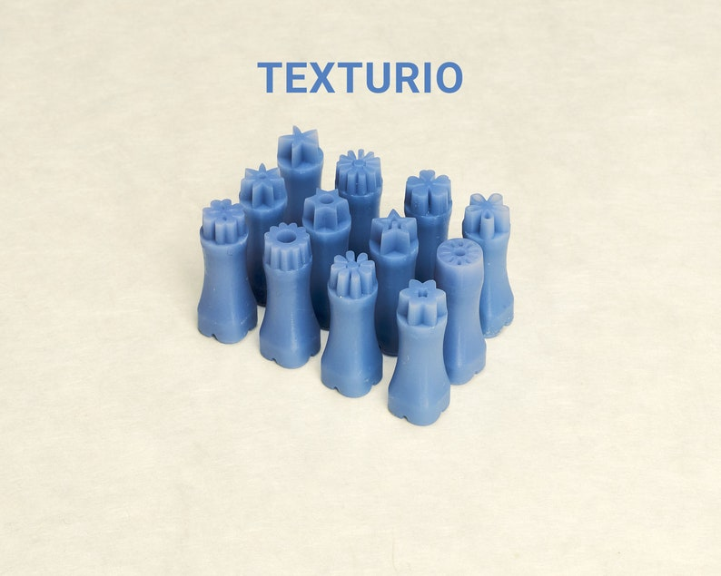 Texturio stamps for pottery Clay texture Pottery stamps Small flowers stamp set Sculpting pottery tools Polymer clay tools Soap stamp
