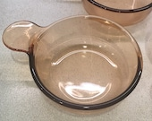 1 Corning Visions Grab It V-150-B Bake Reheat Store Amber Pyrex Amber Made by Corning in the USA Visions Grab Its
