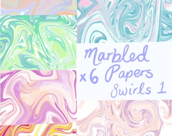 Digital papers: marbled effect