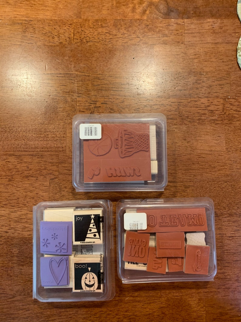 Retired Brand New Unassembled Stampin/' Up Sporting Just Basketball and Say it Simply Stamp sets