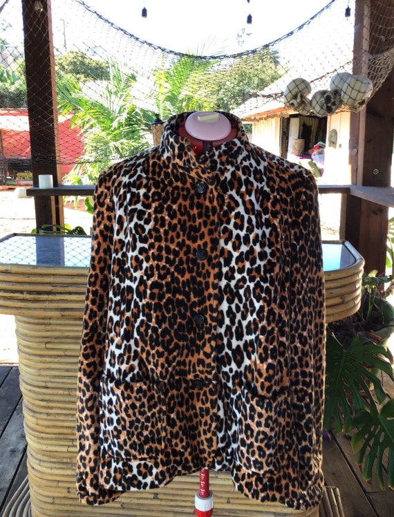 1960's leopard swing jacket