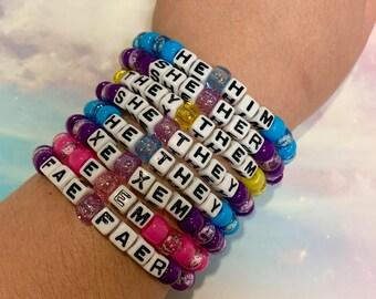 Pronoun Bracelet Etsy Sans plomb, cadmium et sans nickel. pronoun bracelet etsy