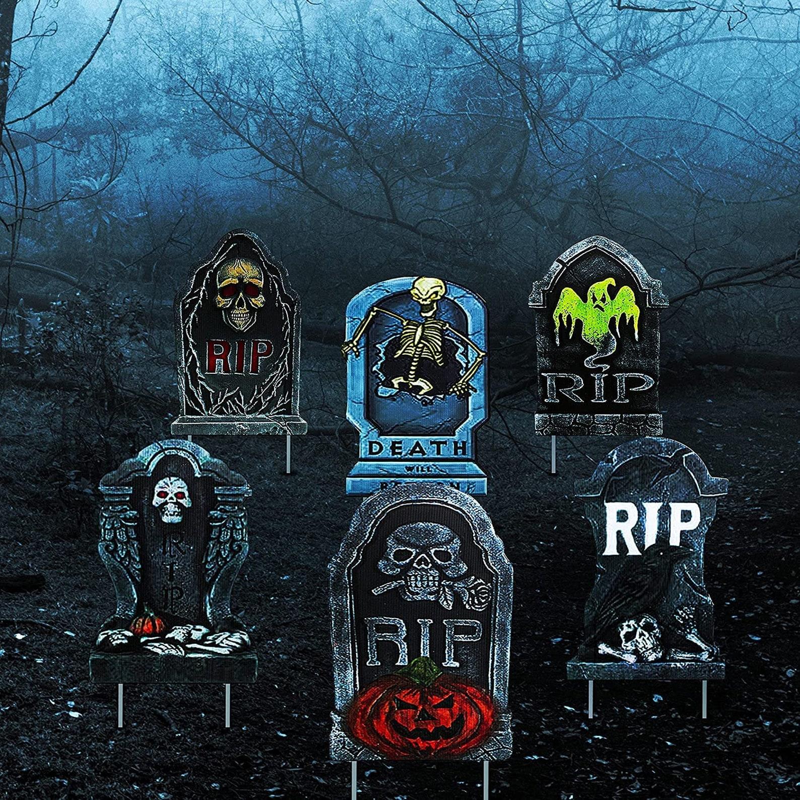 Plastic Halloween Tombstones
