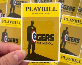 Rogers Playbill Inspired Sticker