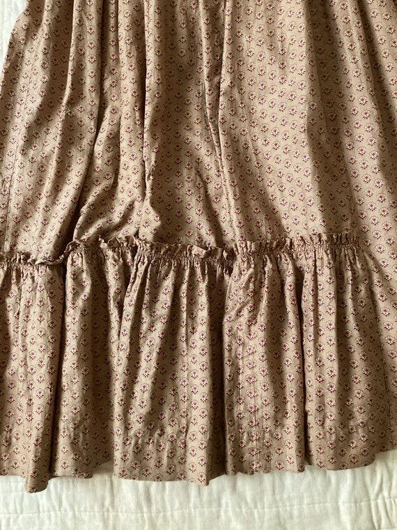 RARE Antique 1800's Calico Cotton Prairie Dress - image 7