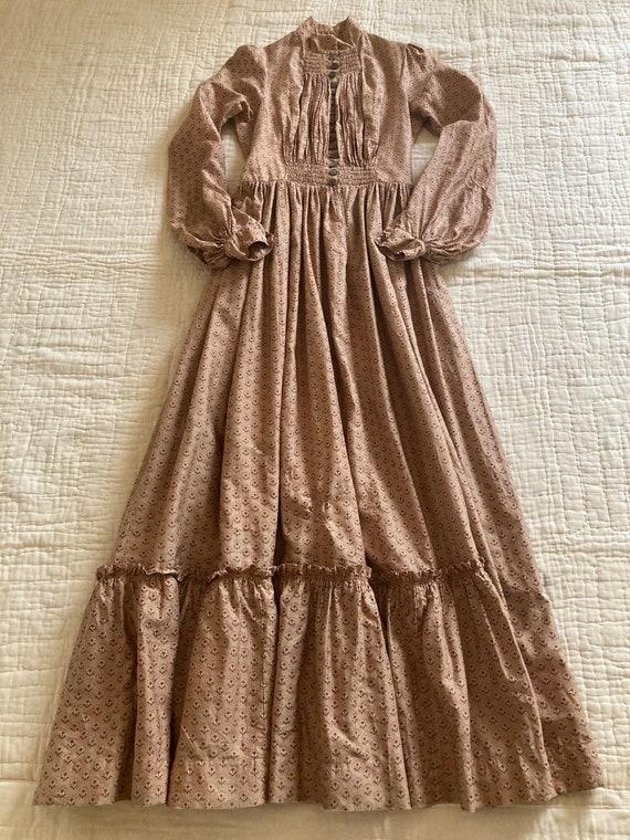 RARE Antique 1800's Calico Cotton Prairie Dress - image 3