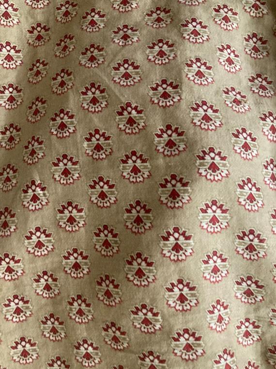 RARE Antique 1800's Calico Cotton Prairie Dress - image 8