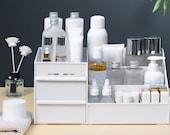 Desktop Makeup Organizer, Cosmetic Storage Box Organizer, Jewelry Drawer Container