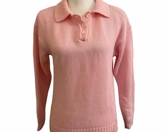 vintage 80/'s pie /'n pig pink  polo shirt #0780