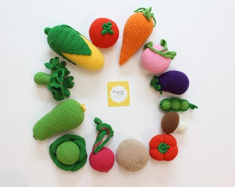 1 pc+ Crochet Cucumber Rattle Tactile toy Soft food Learning toys Veggies Montessori Toys Teether teeth Newborn basket Easter