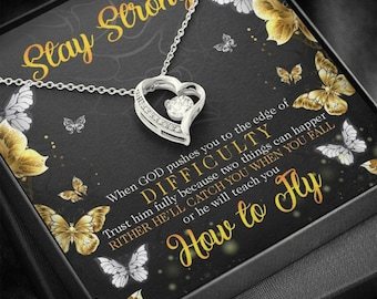 You Are Worth It Personalized Depression Gift It/'s Ok To Not Be Ok Friend Care Necklace Self Worth Gift Sending A Hug Stay Strong YWS7