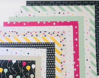 """Stampin' Up! Designer Series Paper, 6"""" X 6"""" - 12 double sided sheets, retired, birthday, scrapbook, papercrafting; acid free, lignin free"""
