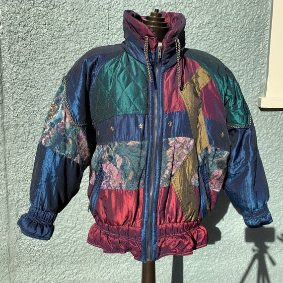 80s Patchwork Puffer Jacket - image 3