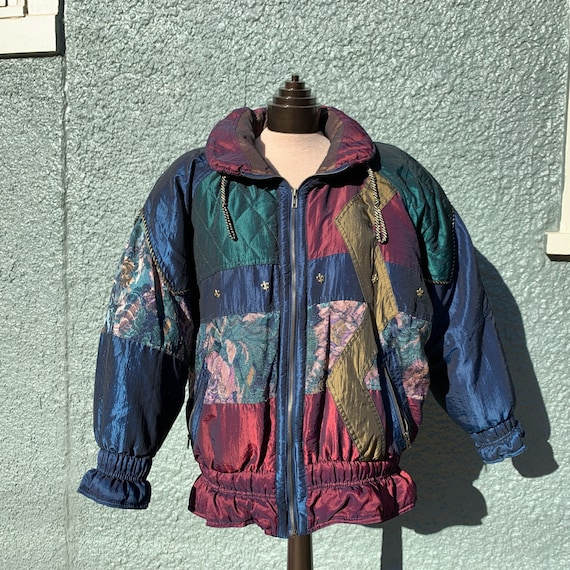 80s Patchwork Puffer Jacket