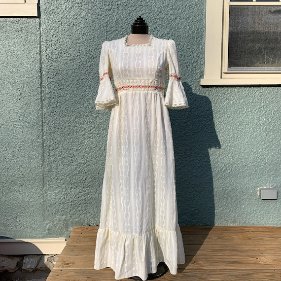 True Vintage 1970s Prairie Dress