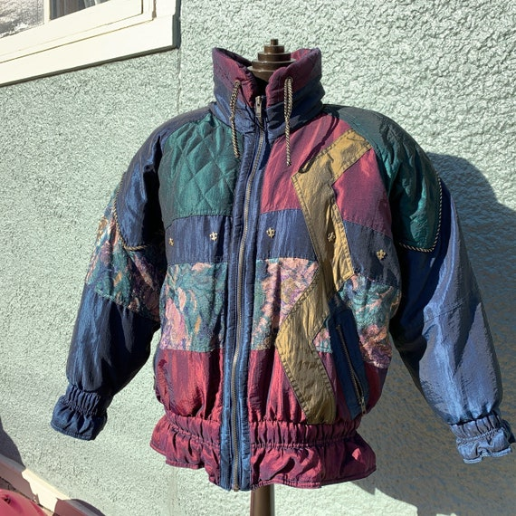 80s Patchwork Puffer Jacket - image 4
