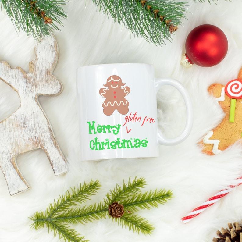Gluten Free Christmas Mug Gluten Free Mug Coeliac Mug image 1