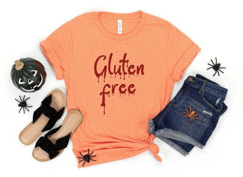Gluten Free Blood Drip Shirt Gluten Free Halloween Womens image 1