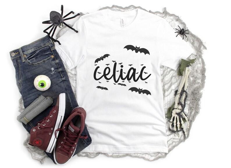Celiac Bats Halloween Shirt Gluten Free Halloween Mens image 1