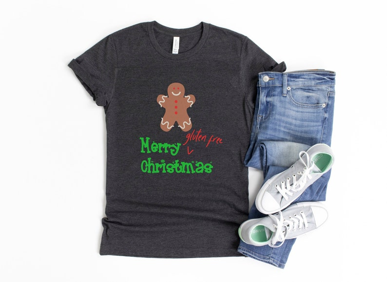 Gluten Free Christmas Shirt Gluten Free Shirt Coeliac Shirt image 1