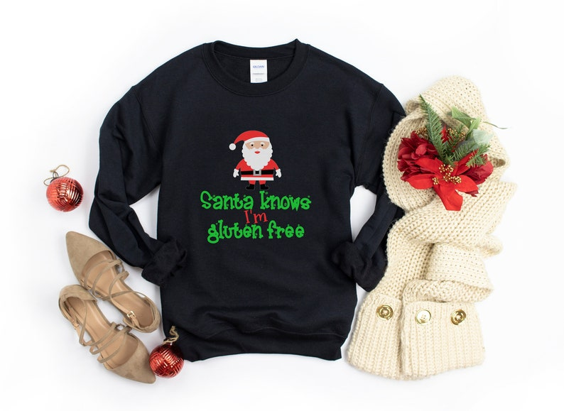 Gluten Free Christmas Sweater Gluten Free Sweater Celiac image 1