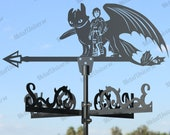 Dragon Metal Weathervane for roofs, Weathervane Outdoor, Weathervane Garden, Weathervane Copper, Farm House Decor, Weathervane for cupola