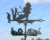 Devil girl Metal Weathervane for roofs,Weathervane Outdoor, Weathervane Garden, Weathervane Copper, Farm House Decor, Weathervane cupola