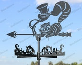 Cheshire Cat Metal Weathervane for roofs, Weathervane Outdoor, Weathervane Garden, Weathervane Copper, Farm House Decor, Weathervane cupola