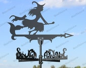 Witch Metal Weathervane for roofs, Weathervane Outdoor, Weathervane Garden, Weathervane Copper, Farm House Decor, Weathervane for cupola