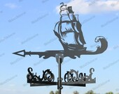 Sailboat Metal Weathervane for roofs, Weathervane Outdoor, Weathervane Garden, Weathervane Copper, Farm House Decor, Weathervane for cupola
