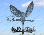 Owl Metal Weathervane for roofs, Weathervane Outdoor, Weathervane Garden, Weathervane Copper, Farm House Decor, Weathervane for cupola