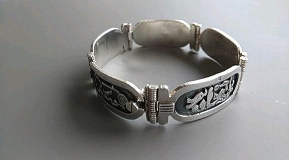 Vintage Egypt silver bracelet