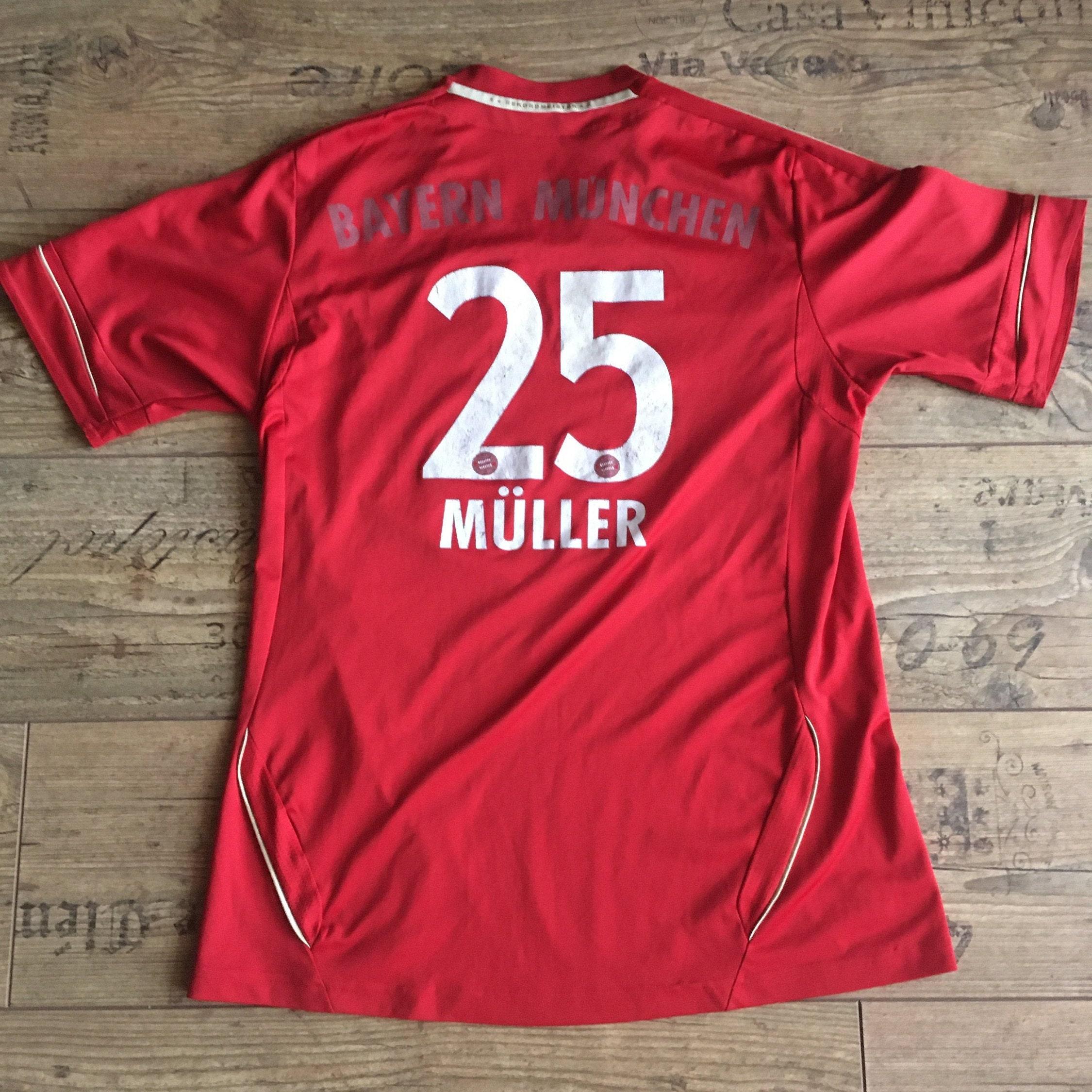 Jersey FC Bayern Munich Thomas Müller #25 Germany Bundesliga 2011/2012 2012/2013 Home Kit Adidas S Vintage Rare