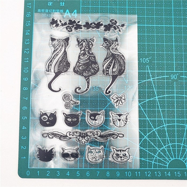 Clear Rubber Stamps Scrapbook Bullet Journal Stamps Stamps for Card Making Planner Stamp 11x16cm Cat Clear Stamps