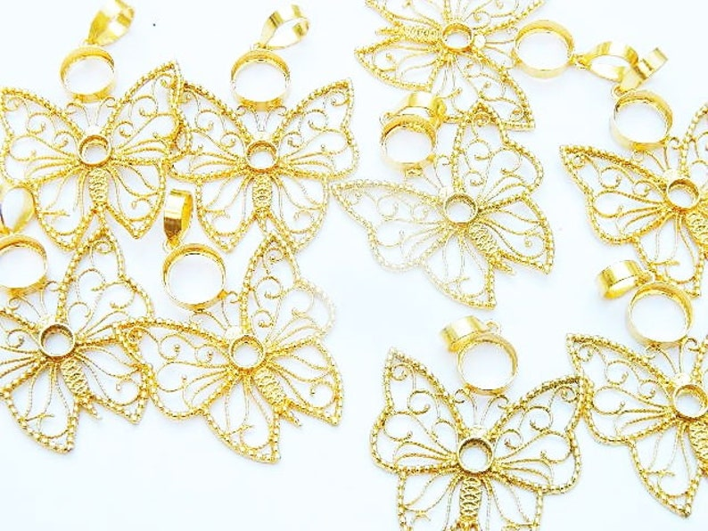 Butterfly pendant Brass pendant Brass pendant Gold pendant 1 Pcs Gold Plated Brass pendant Brass jewelry